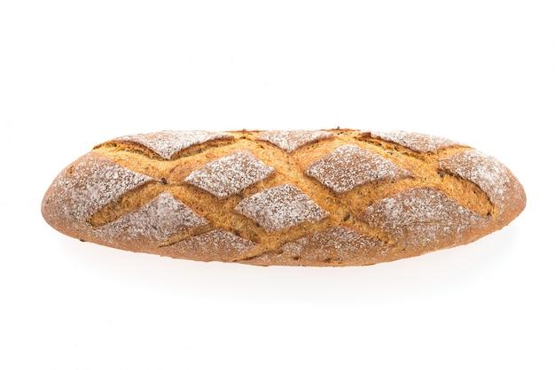 흰색 배경에 빵 덩어리