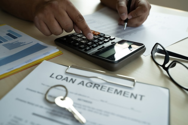 Loan business and finance business loan agreement real estate, home loan and investments