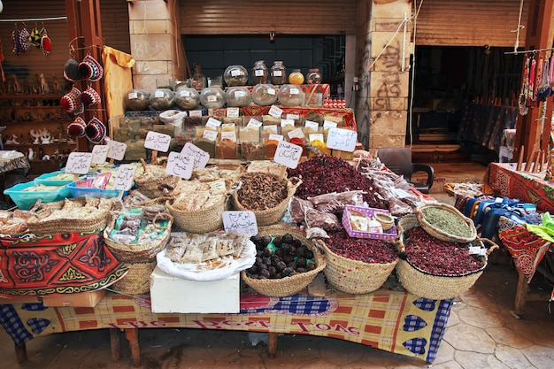 Local market in luxor city
