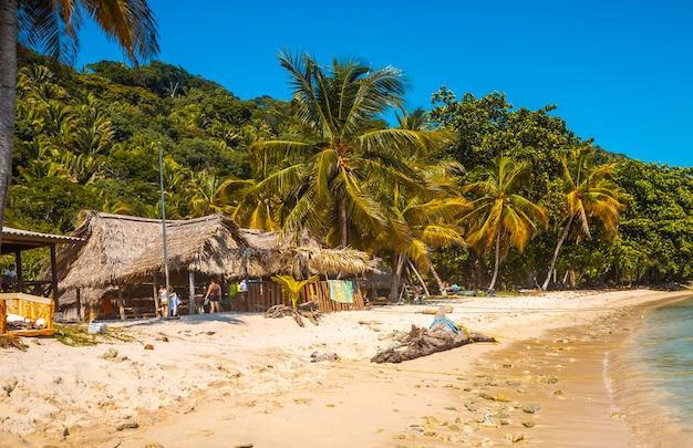 The local restaurant on cocalito beach in punta de sal in the caribbean sea, tela