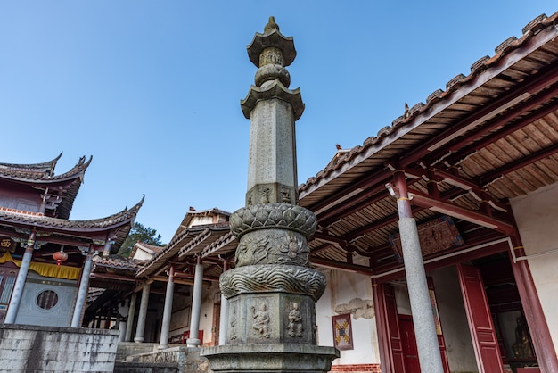 Local structure of chinese traditional buddhist temples