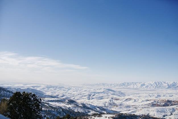 中央アジア、ウズベキスタン、天山山脈の位置