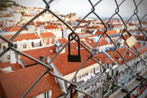 Lock on the cage, old city