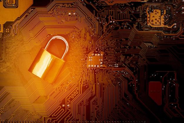 Lock on computer circuit board