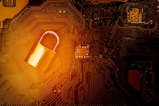 コンピューター回路基板のロック