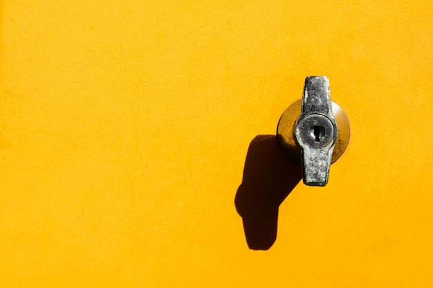 Lock at yellow locker
