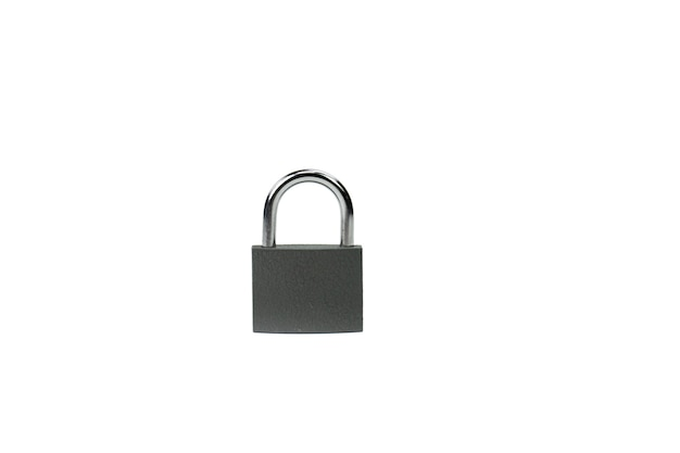 Locked padlock - symbol of security, information and personal data protection