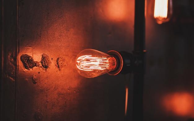 에디슨 램프가있는 로프트 램프