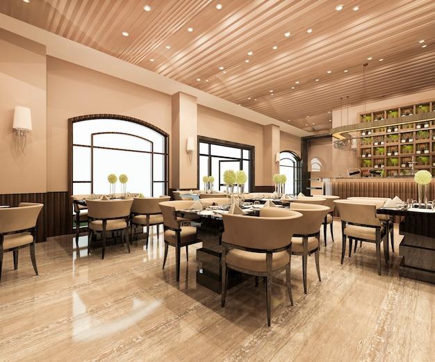 Loft and luxury cafe lounge restaurant