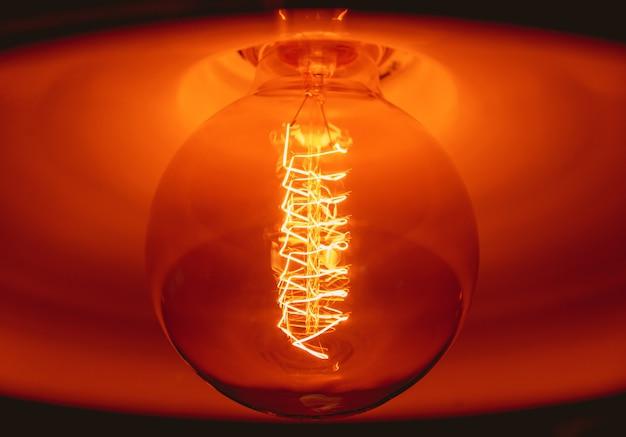 Loft pendant lamps with edison light bulbs.