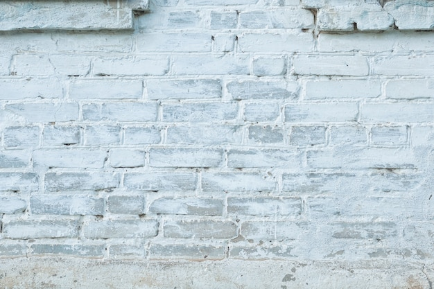 Loft vintage styled white and grey brick wall. texture concept background