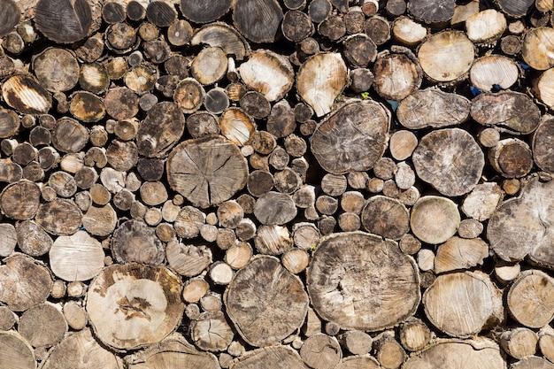 古い丸い木製からログの背景