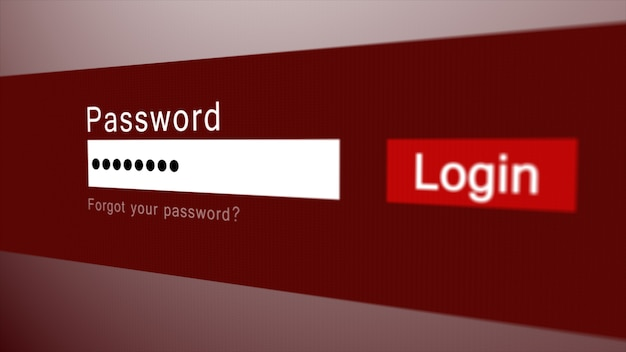 Login or sign in form with username and password fields