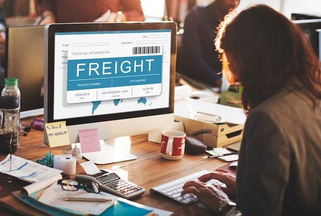 Concetto di spedizione di merci di carico di consegna di logistica