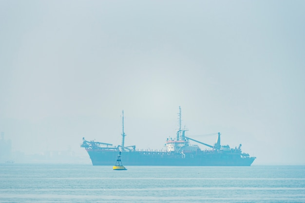 Logistics and transportation of international container cargo ship in the ocean