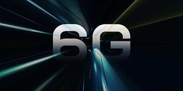 Logo6g高速インターネット最新の通信および情報技術の概念最新のインターネットおよびネットワーク