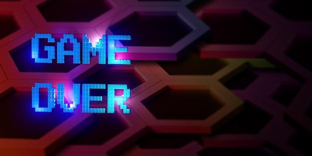 네온 레이저 컬러 알파벳 글로우 효과 재미 있고 즐거운 3d 일러스트를 통한 로고 게임