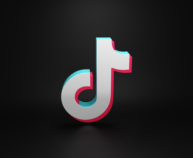 Tik tokアプリのロゴミニマルなシンプルデザイン