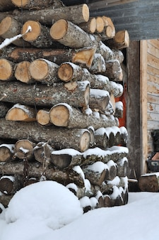 Logs for warming