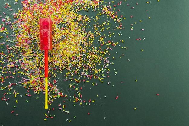 Lollipop on sprinkles