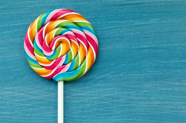 Lollipop with many colors