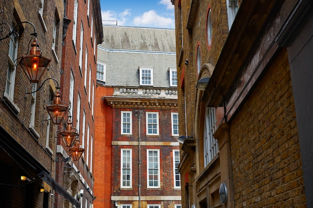 London brick facades near trafalgar square