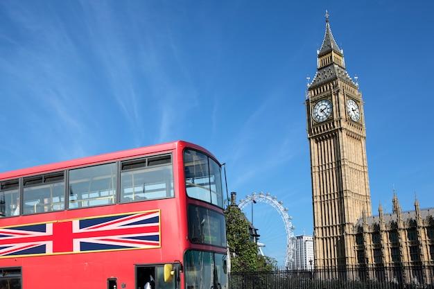 London bus with big ben