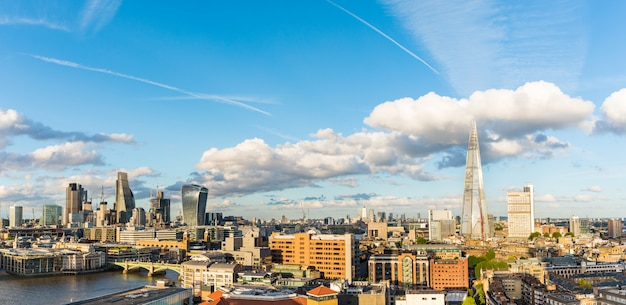 London city aerial panoramic view