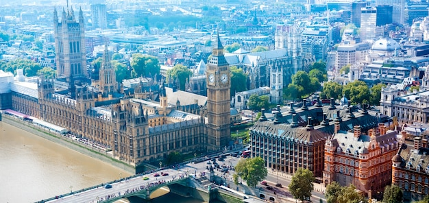 London city skyline, великобритания,