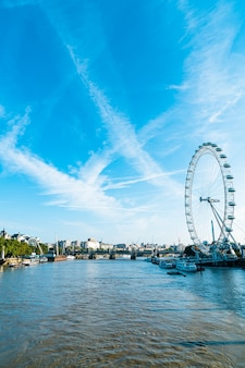 London city with river thames in united kingdom