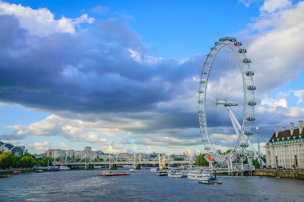 London eye on river thames