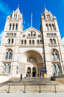 London - sep 4, 2019. people visit natural history museum in london.