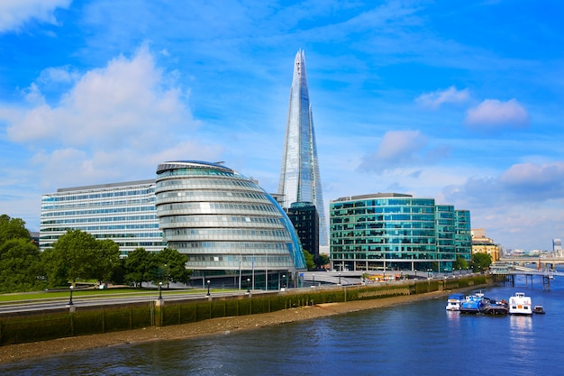 London skyline city hall and shard