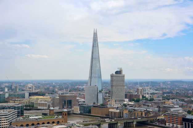 London, uk - july 19, 2014: view of london from above. shard skyscraper. london from st paul's cathedral, uk