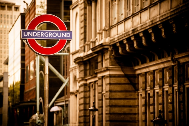 London underground in sepia