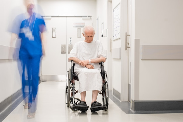 Lonely disabled at hospital