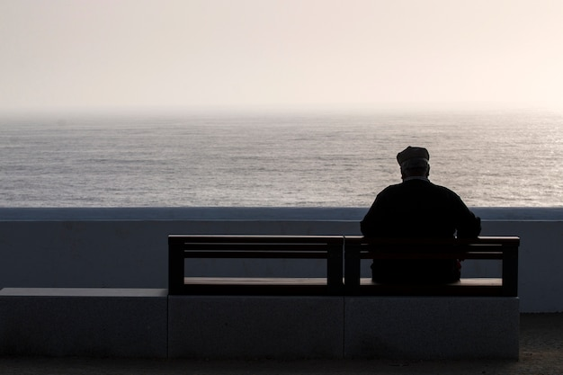 Lonely elder man