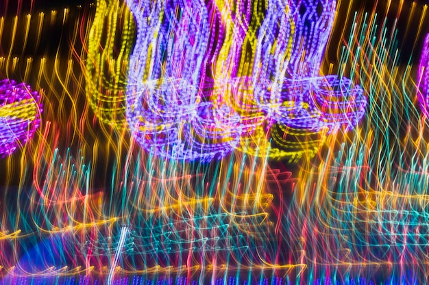 Long abstract exposure neon lights texture
