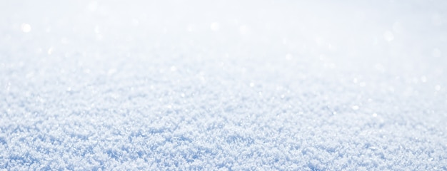 Long banner of beautiful snowy banner background