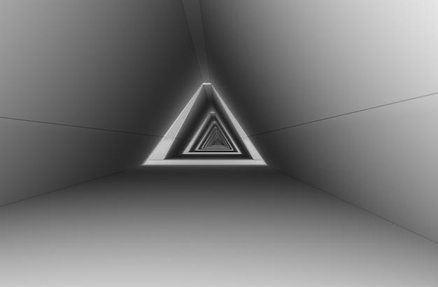 Визуализация интерьера длинного коридора 3d иллюстрация