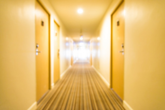Long corridor with vanishing point