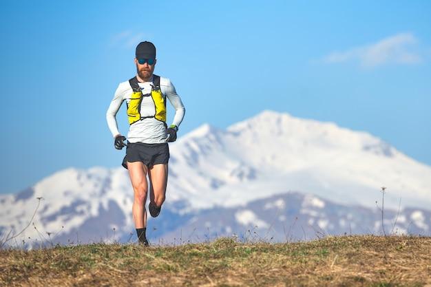 高山での長距離走者