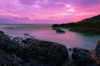 Long exposure image of Dramatic sky