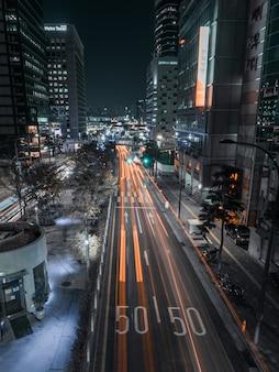 Долгая выдержка на ночной улице сеула