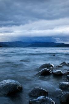 Long exposure photography of lake toya hokkaido japan