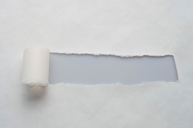 A long hole in old paper with place for your message.