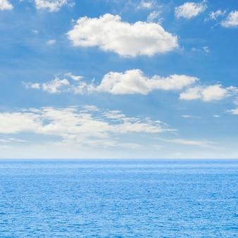 Long shot sea horizon crystalline sea