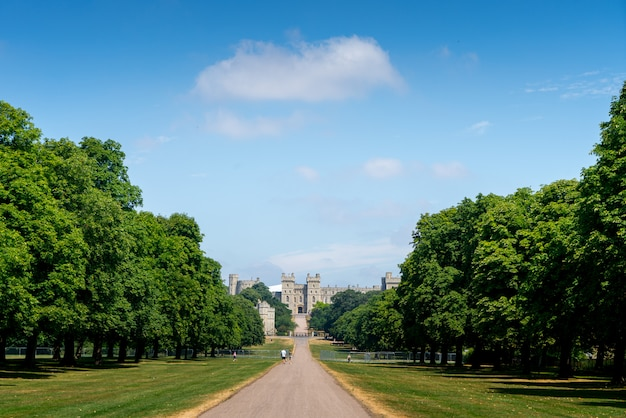 Long walk in windsor castle, uk, london in summer