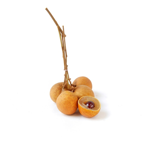 Longan isolated on a white background