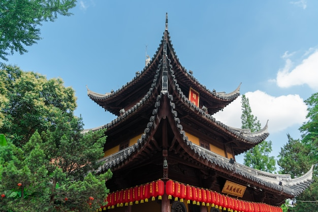 Longhua temple in shanghai, china. one of famous buddhist monastery in china